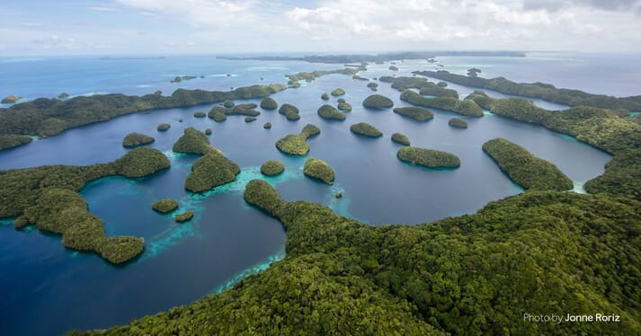 Aerial view of Palau