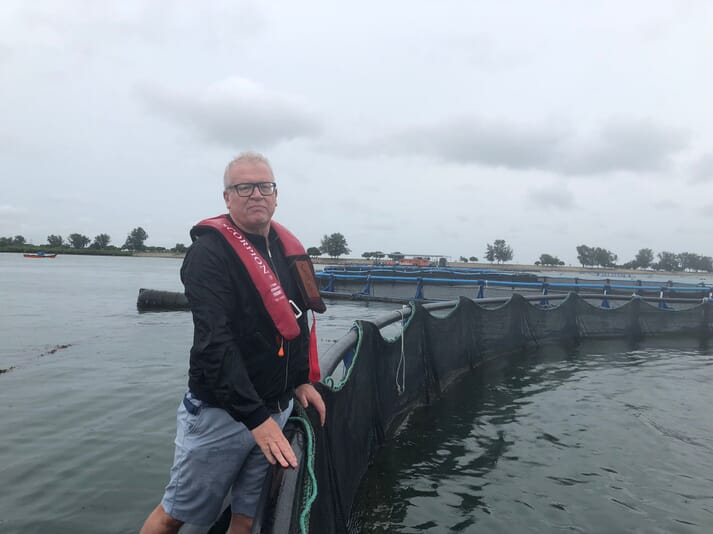 Vincent Erenst at one of Barramundi Group's farms