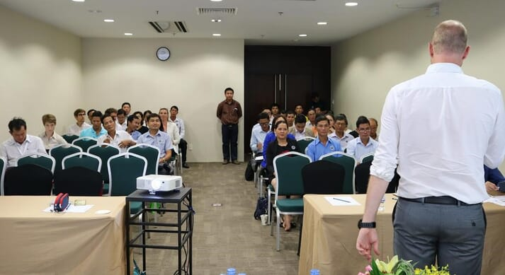 Roy van Daatselaar, producer support manager at ASC, presented the new programme at Vietfish