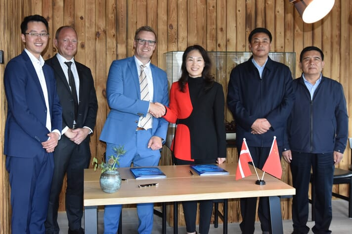 A delegation led by Yan Jinhai, the Vice Governor of The Peoples Government of Qinghai Province witnessed the deal being signed in Denmark