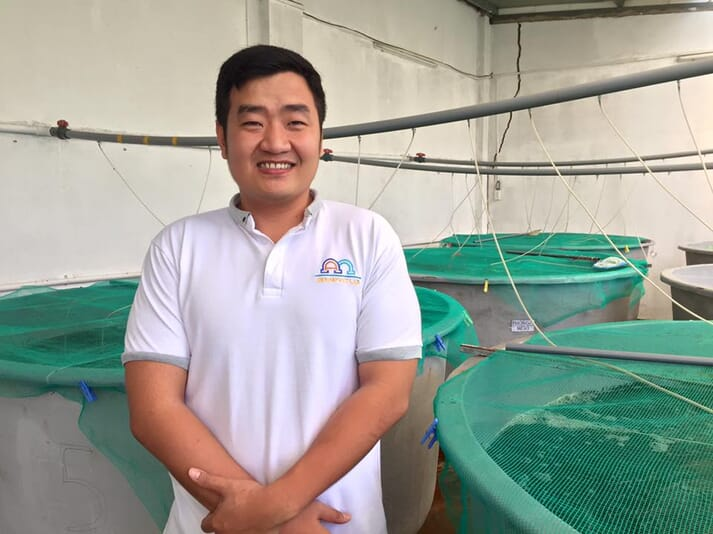 Dr Loc Tran, the founder of ShrimpVet