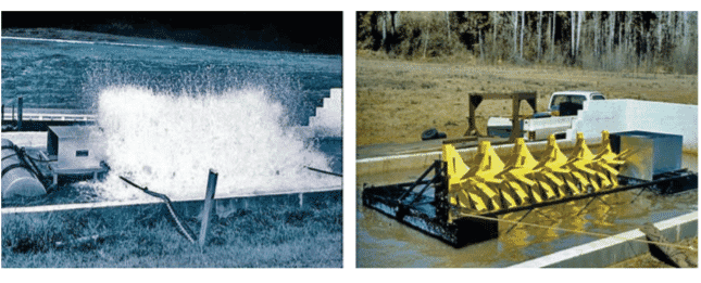 A 10 hp paddlewheel aerator, as favoured by catfish farmers in the US