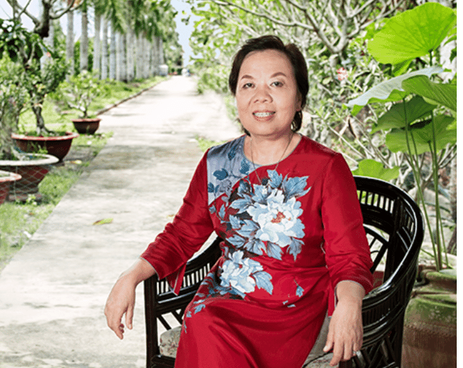 Truong Thi Le Khanh, founder and chairwoman at Vin Hoan, which also has a female CEO, Nguyen Ngo Vi Tam
