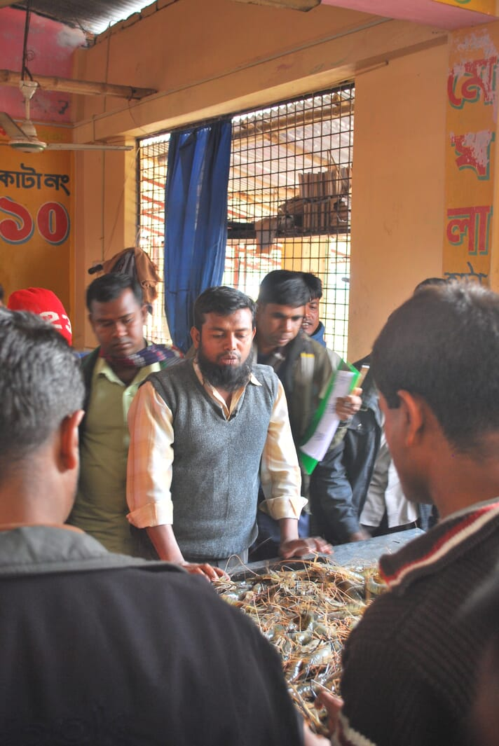 A fish market in Bangladesh