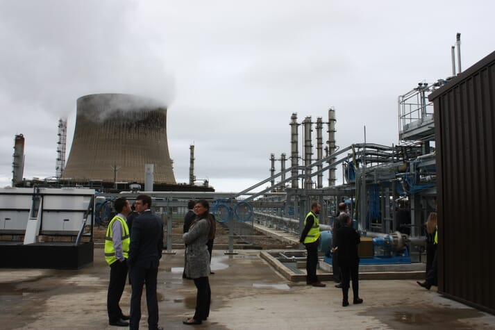 Samples of Calysta's FeedKind protein are produced at this plant on Teesside, northern England.