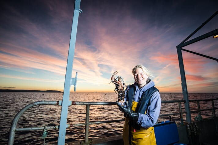 Carly Daniels, from the National Lobster Hatchery, has been shortlisted for the Shellfish Farm Manager of the Year category