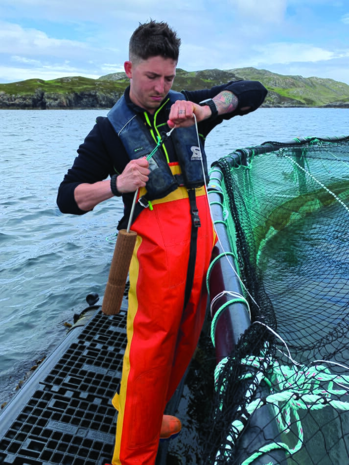 The blocks have been trialled by Scottish salmon producer Loch Duart