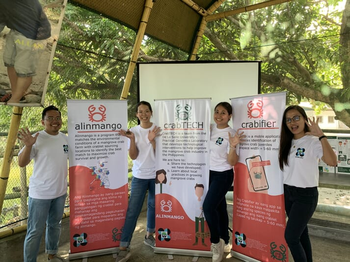 The DLSU team has developed both the Crabifier and Alinmango apps