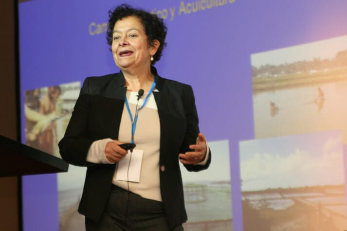 Doris Soto from Chile's Interdisciplinary Center for Aquaculture Research (Incar).