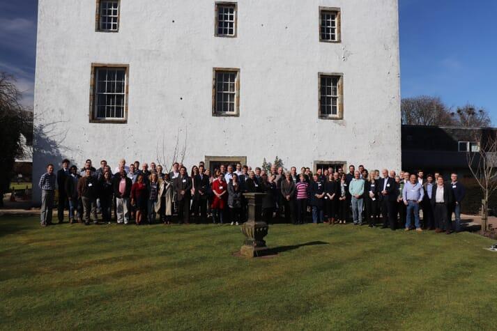 Delegates at the 2018 Fish Vet Society Conference, near Edinburgh