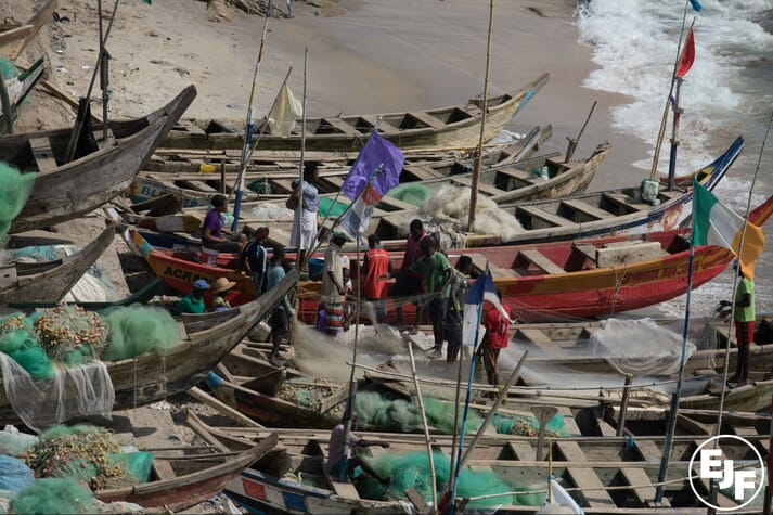 The illegal practice of 'saiko' – where industrial trawlers sell fish to local canoes at sea - is undermining the livelihoods of Ghana's traditional fishermen