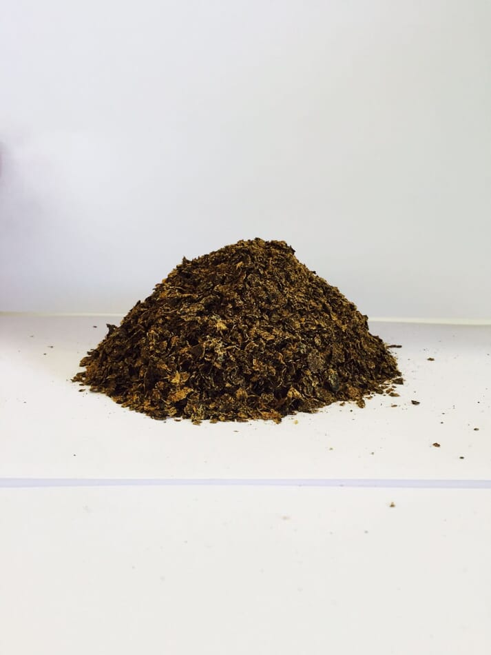 The finished product: insect meal