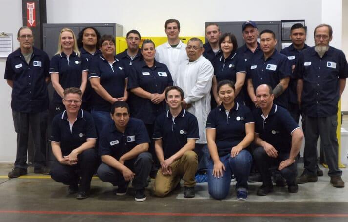 The team at INVE's Salt Lake City Artemia and probiotics plant.