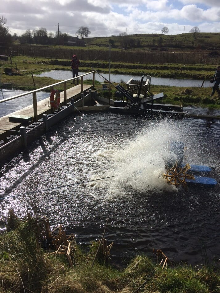 Full scale demonstration of a new aeration technology for fish farms