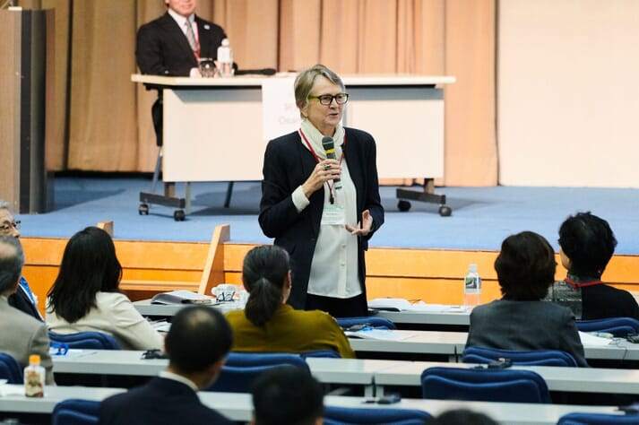 Dr Meryl Williams of the Asian Fisheries Society was one of the seven speakers at the event