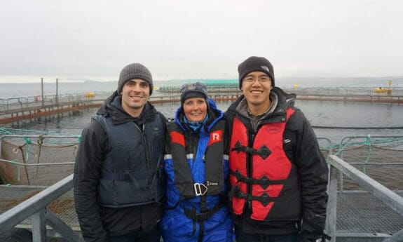 Manolin founders John Constantino and Tony Chen have been well received by Norwegian salmon producers