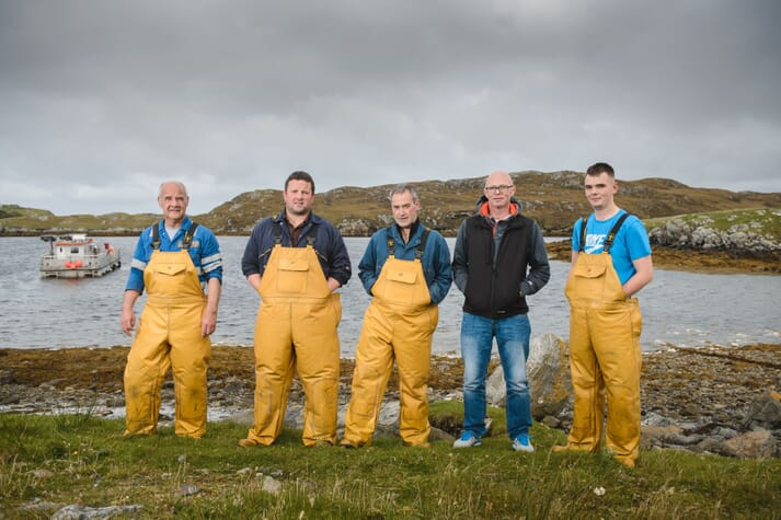 The company's farming team on Lewis