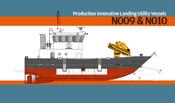 The unique design incorporates a hybrid of multi-cat and landing craft functions