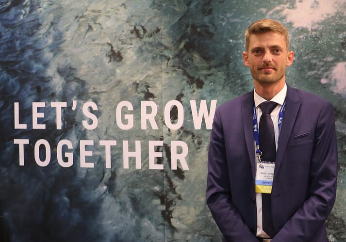 Niels Lundgaard, Aller Aqua's Commercial Director of Africa, at WAS in Cape Town.