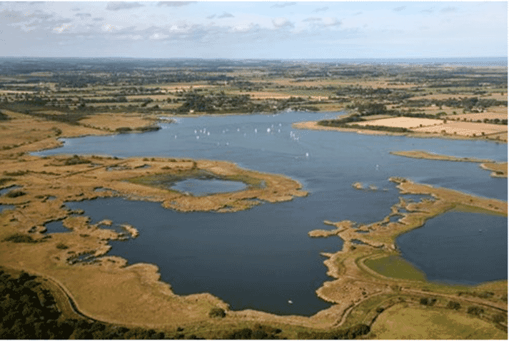 The breakthrough was made by on the Norfolk Broads, in England