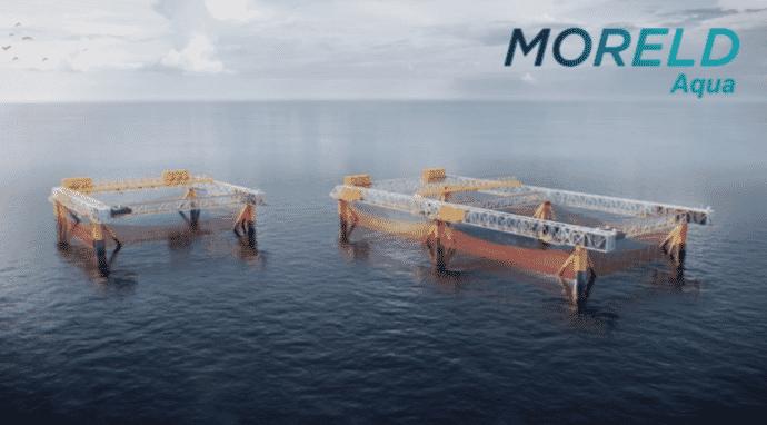 A preliminary sketch of Moreld's offshore salmon farm design