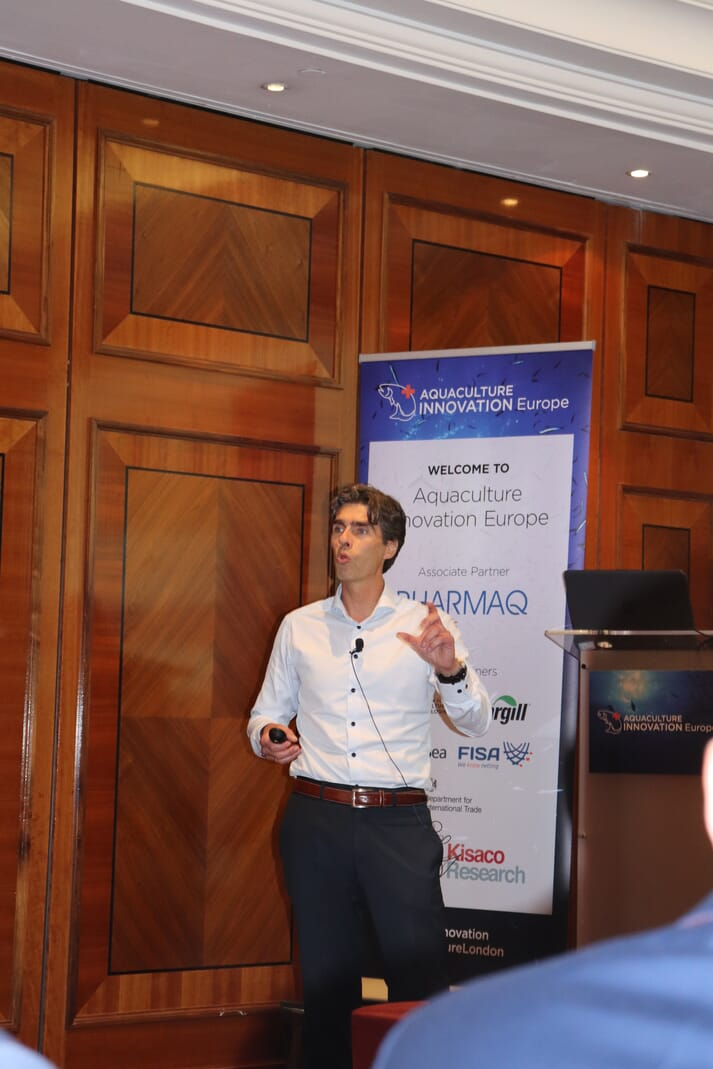 Rune Husby, CEO of Planktonic, at the Aquaculture Innovation Conference in London