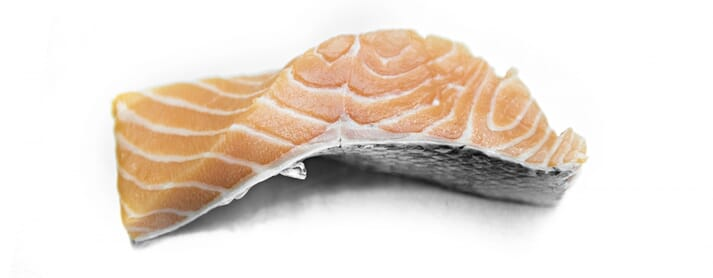 Salmon fillets are firmer in times of low growth, such as winter