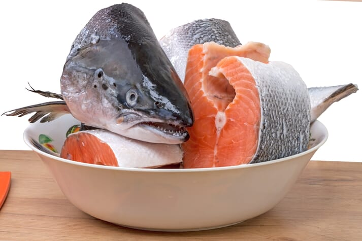 Salmon heads fetch $4.99 per pound in Chinese supermarkets.