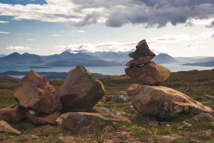 Scalpay lies between Skye and the Scottish mainland.