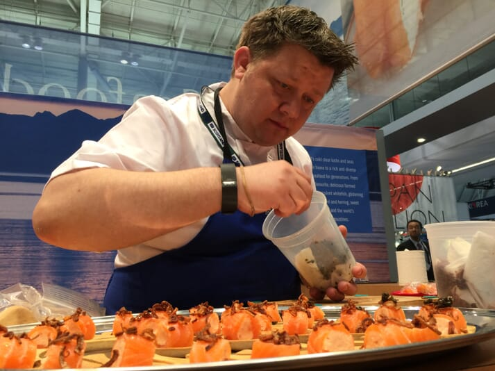 Chef Mark Greenaway will be preparing some innovative salmon recipes at Seafood Expo North America
