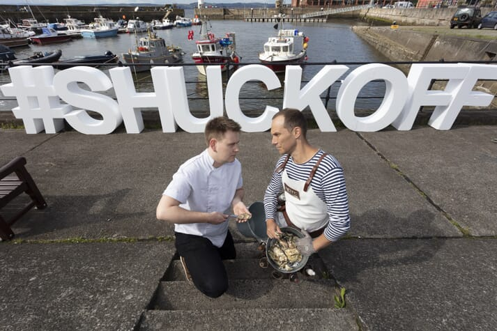 Gordon Reekie, chef at That's Yer Dinner (left) and Ferran Segeur Meyfroodt, head oyster shucker at Oysterman Events (right) will both be present at the Stranraer Oyster Festival's Scottish Oyster Shucking Championship