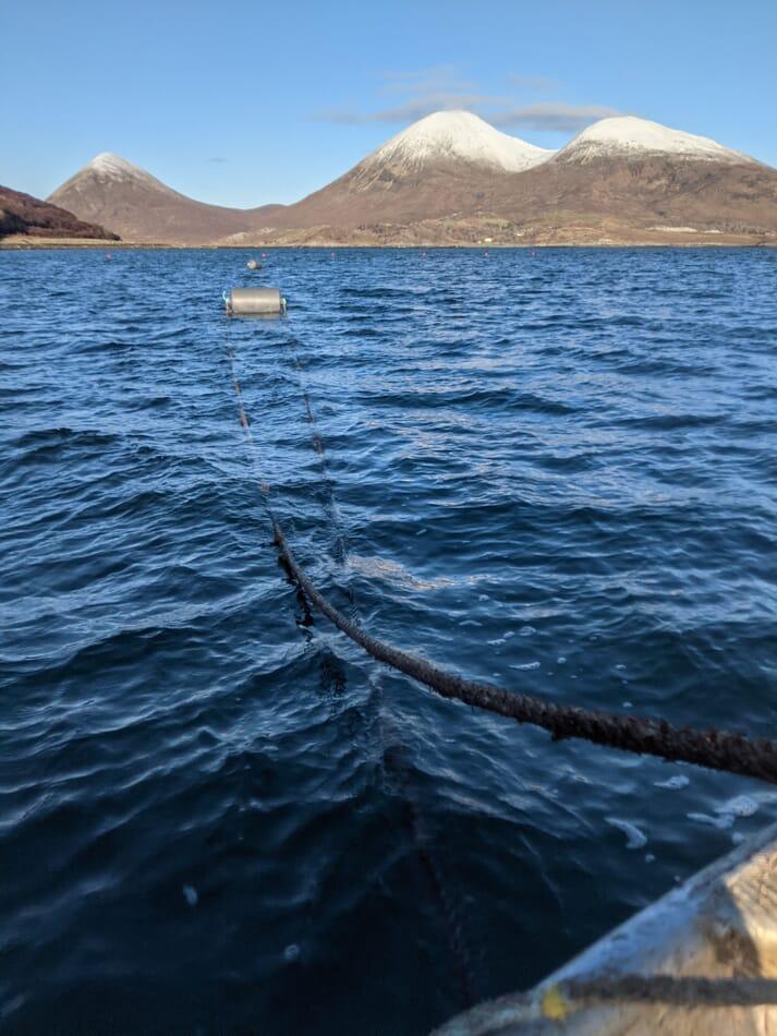 Header ropes on Loch Slapin