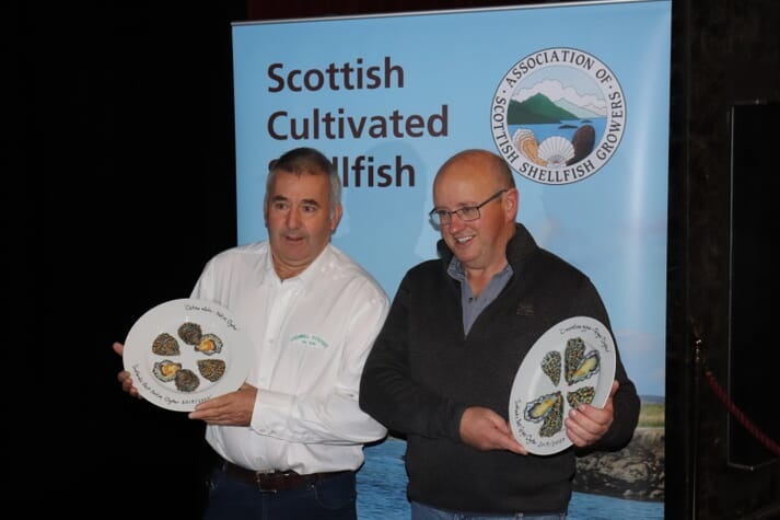 John Hamilton of Lochnell Native Oysters and Gerard MacDonald of Isle of Barra Oysters