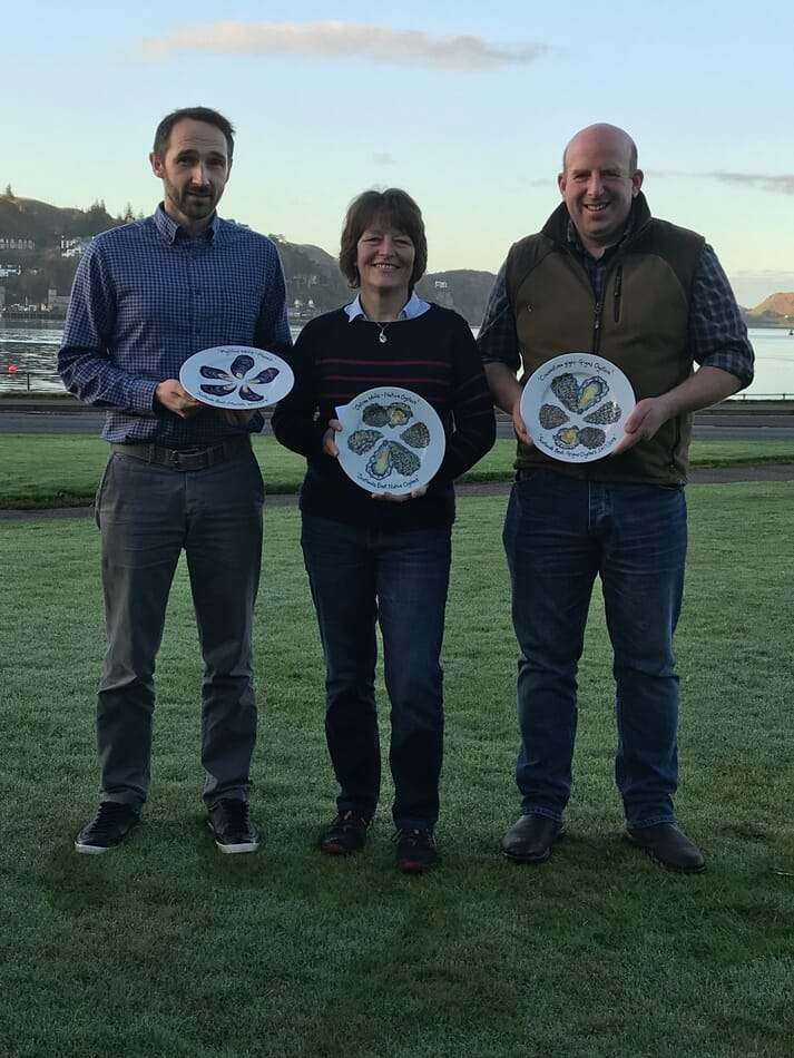 Richard Tait, Shetland mussels; Judith Vajk, Caledonian Oysters and Craig Archibald, Islay Oysters