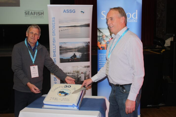 Nick Turnbull and Walter Speirs celebrate 30 years of the ASSG at 2016's event