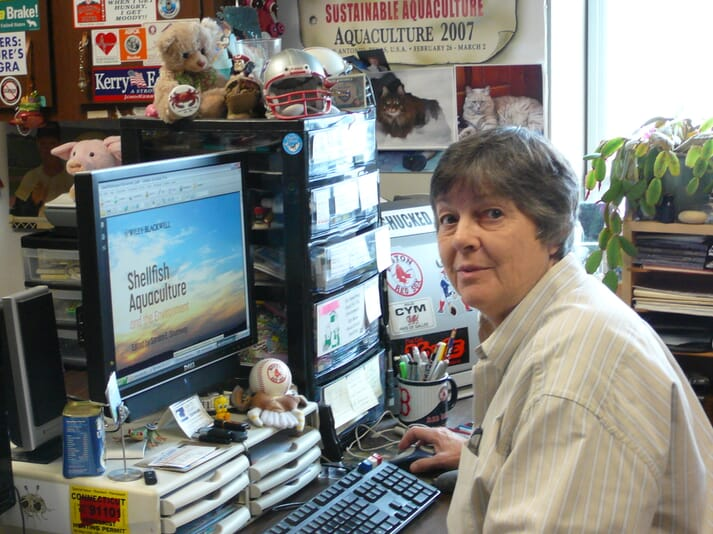 Prof Shumway in her office