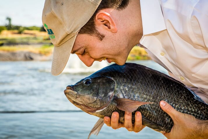 Adame Taylor, founder of FirstWave Group, has been producing tilapia since 2011