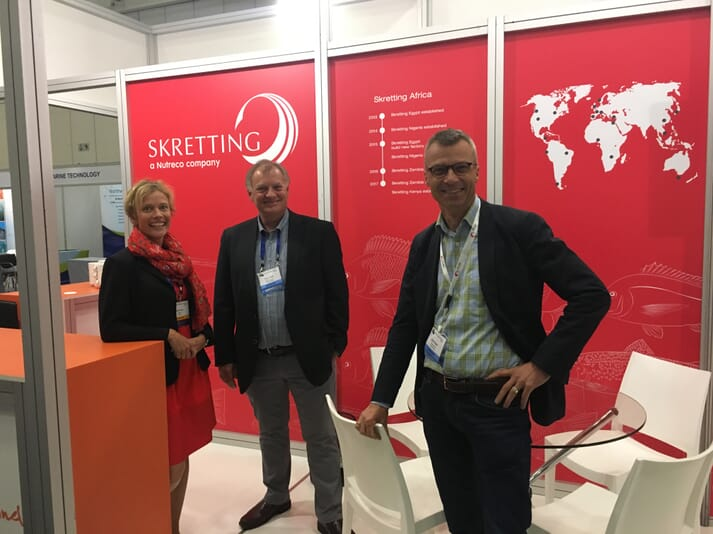 Skretting's stand at the Cape Town event.