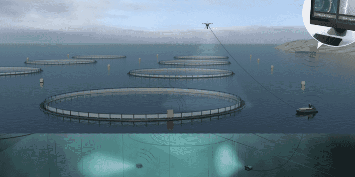 an autonomous vessel plays one of the key roles as part of the unmanned fish farm facility currently under development in Trondheim.