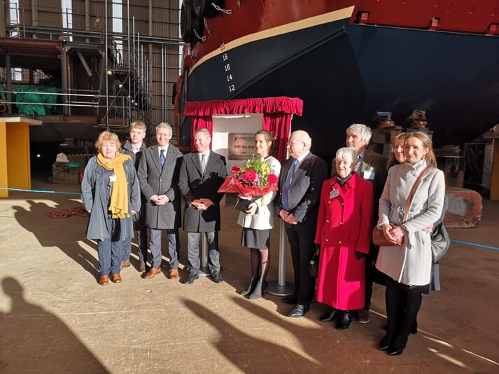The launch of the vessel is good news for both Inverlussa Marine and for the Clyde's shipbuilding sector
