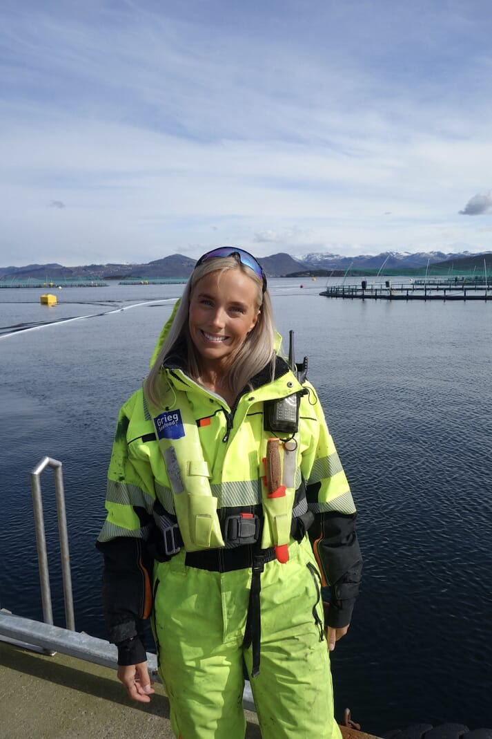 While at university Mia Moseng had a summer internship at Mowi in northern Norway, and another at Grieg Seafood, just outside Stavanger