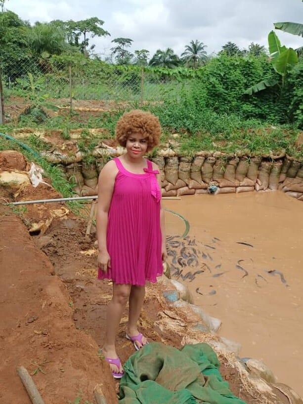 Sandra Ndulue, founder of Ndulue Farms and Fisheries in Nigeria's Anambra State