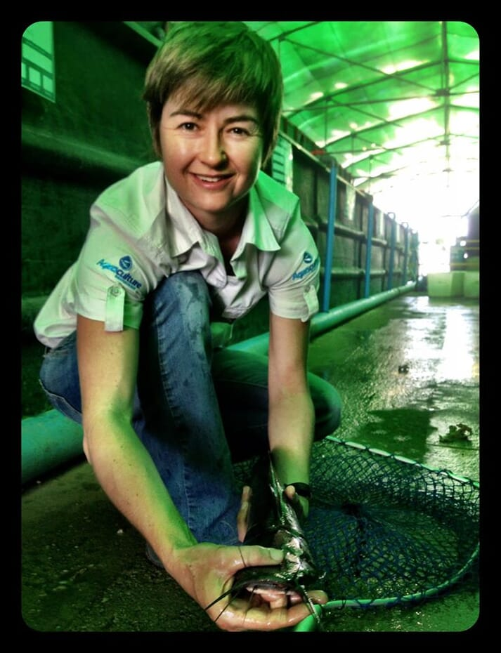 Conchita Milburn, head of Gariep Dam Hatchery and Aquaculture Technology Demonstration Centre, South Africa