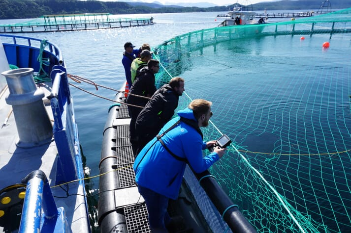 On site at a salmon farm in Macdonald's native BC