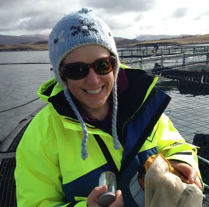 Dr Kintner helps to co-ordinate research projects involving the aquaculture industry and academia
