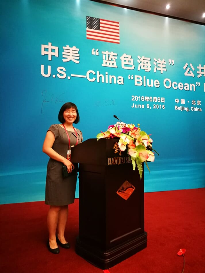 Attending the US-China Blue Ocean Public Event hosted by the US Embassy in Beijing in June 2016