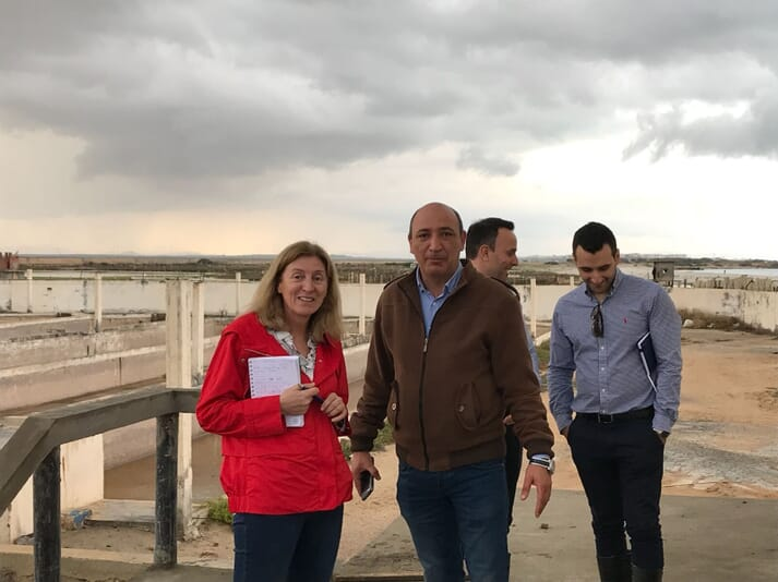Isabel Represas, sales director at INVE Aquaculture, visiting a sea bass and bream site in Tunisia