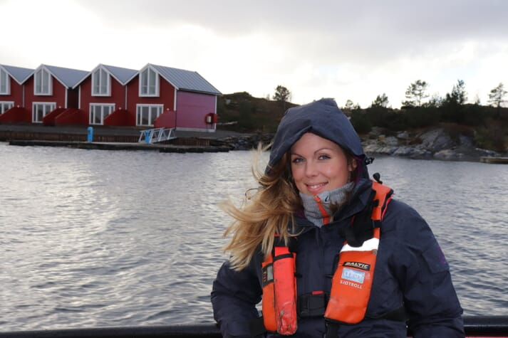 Linn Therese farmed salmon, halibut and cod when growing up in western Norway