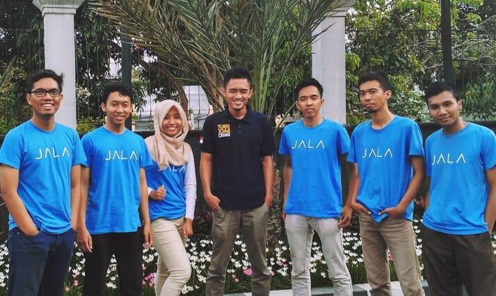 Liris with her Jala colleagues