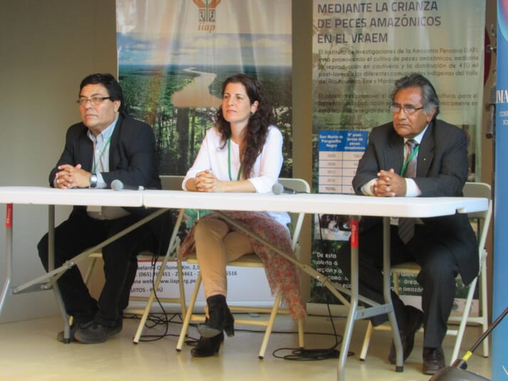 Maria gave one of the presentations at Voices for the Climate, COP20, in Lima